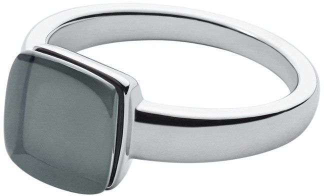 Skagen Ring mit Glasstein, »Sea Glass, SKJ0871040« in silberfarben-blau