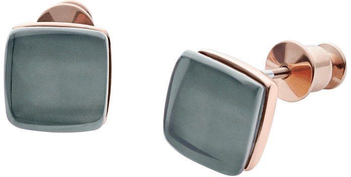 Skagen Paar Ohrstecker mit Glassteinen, »Sea Glass, SKJ0875791« in roségoldfarben-blau