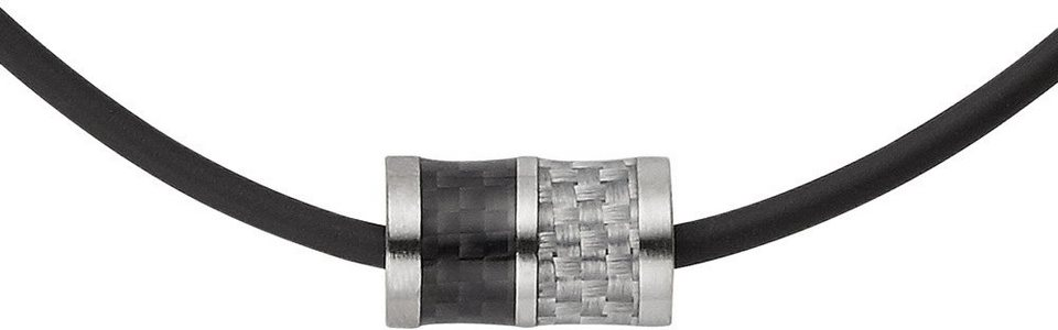 Skagen Kette mit Anhänger, »Olaf, SKJM0114040« in silberfarben-schwarz