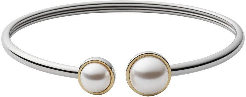 Skagen Armspange mit Perlen, »Agnethe, SKJ882998« in bicolor-weiß