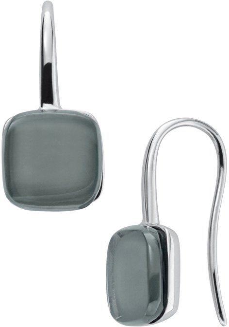 Skagen Paar Ohrhaken mit Glassteinen, »Sea Glass, SKJ0872040« in silberfarben-blau