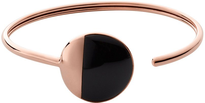 Skagen Armspange mit Onyx, »Ellen, SKJ0910791« in roségoldfarben-schwarz