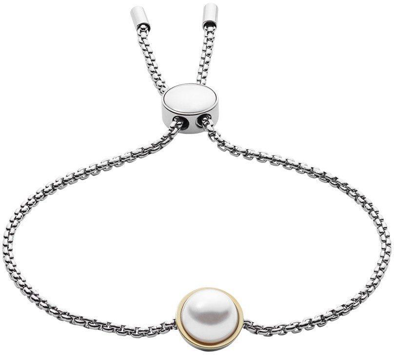 Skagen Armband mit Perle, »Agnethe, SKJ0911998« in bicolor-weiß