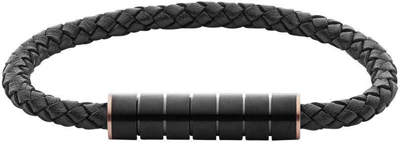 Skagen Armband, »Vinther, SKJM0113998« in roségoldfarben-schwarz