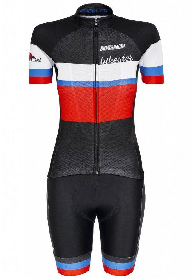 Bikester Radtrikot »Bioracer Classic Race Set Women« in schwarz