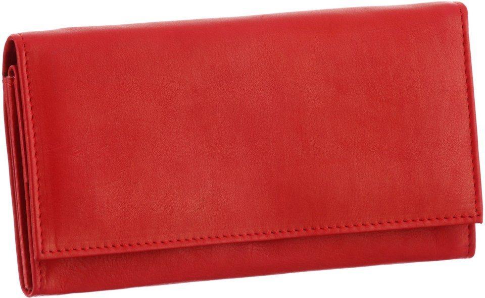 J. Jayz Geldbörse aus weichem Leder in rot