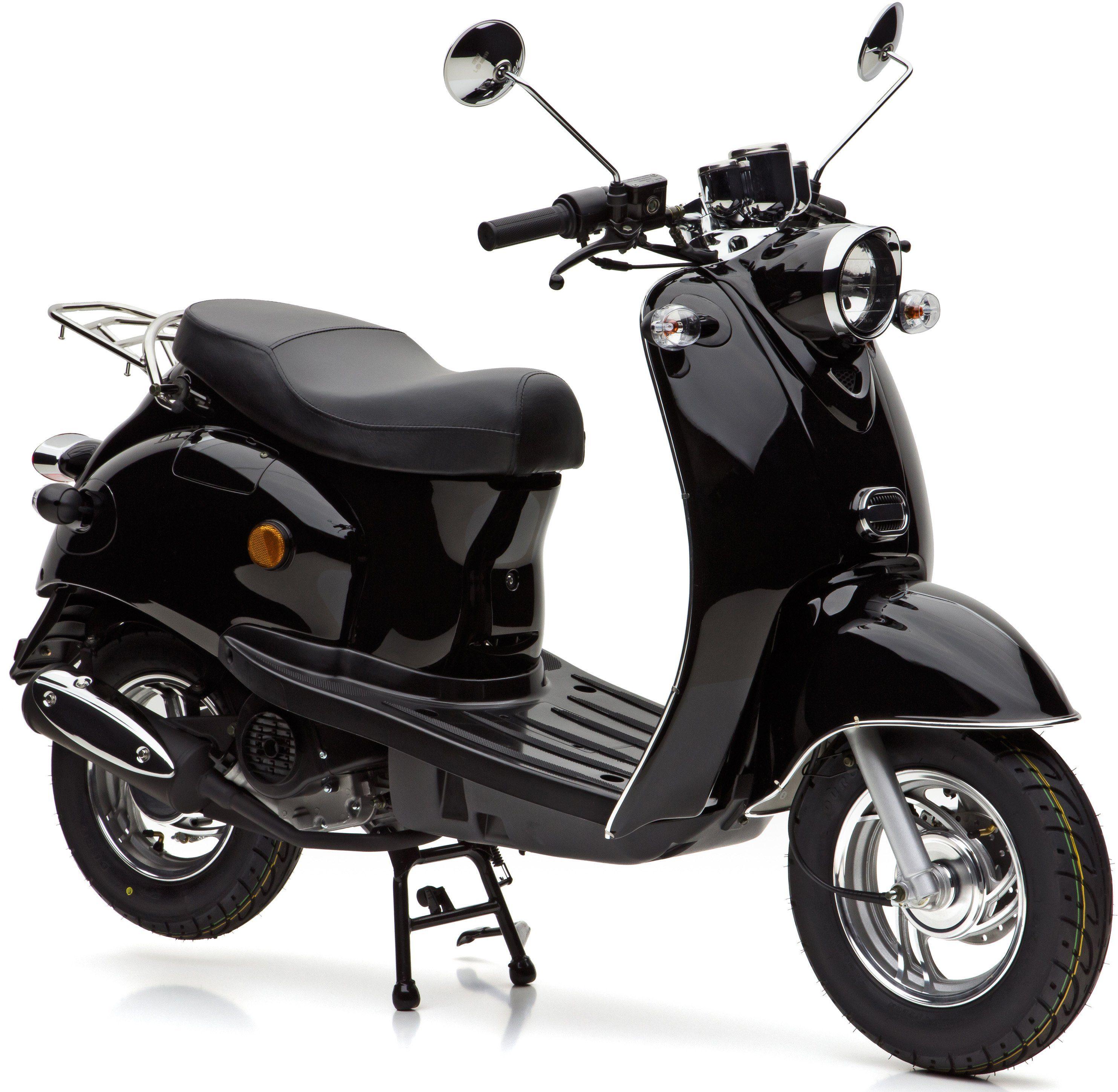 Nova Motors Motorroller, 49 ccm, 45 km/h, schwarz, »Venezia«