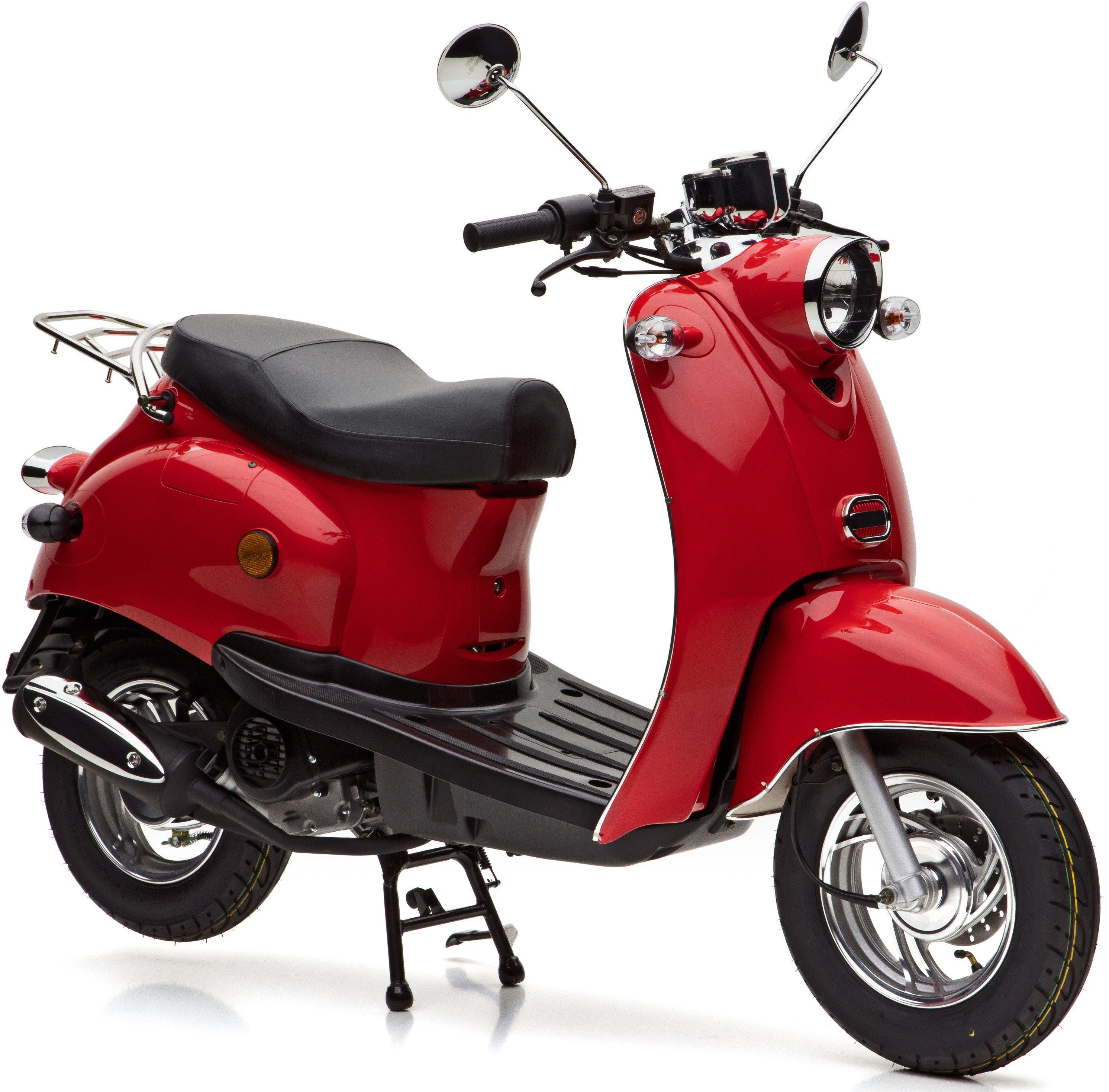 Nova Motors Motorroller, 49 ccm, 45 km/h, rot, »Venezia«