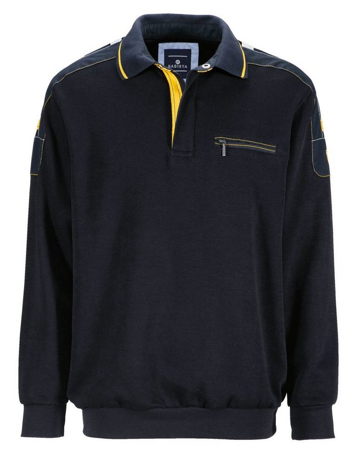 Babista Sweatshirt in marine-gelb