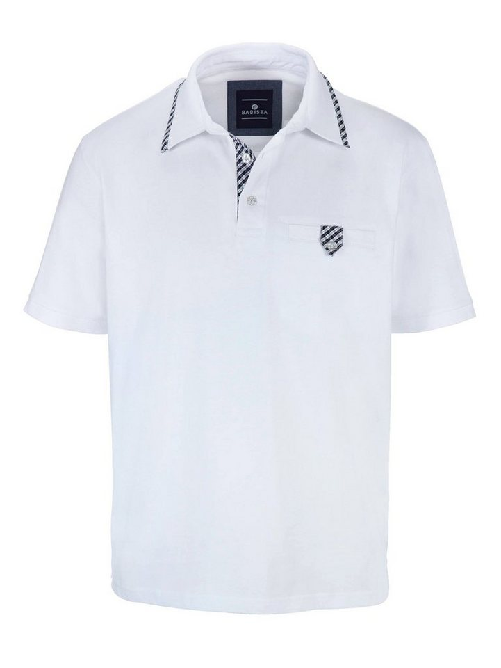 Babista Poloshirt mit aufwendigem Verschluss an der Brusttasche in weiß