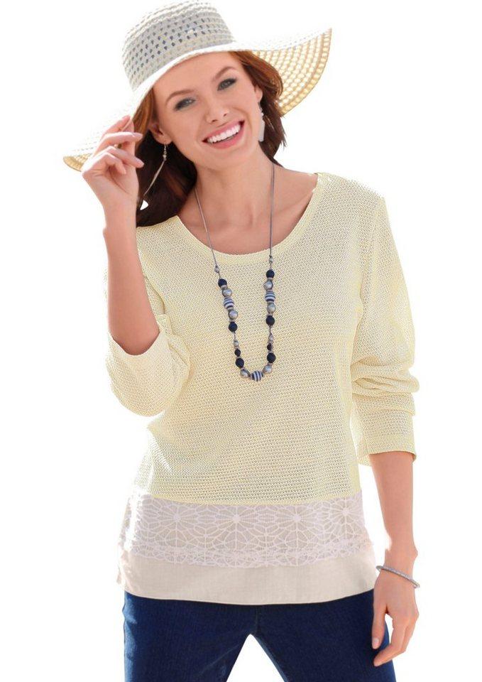 Ambria Pullover aus sehr feinen Maschen in weiß