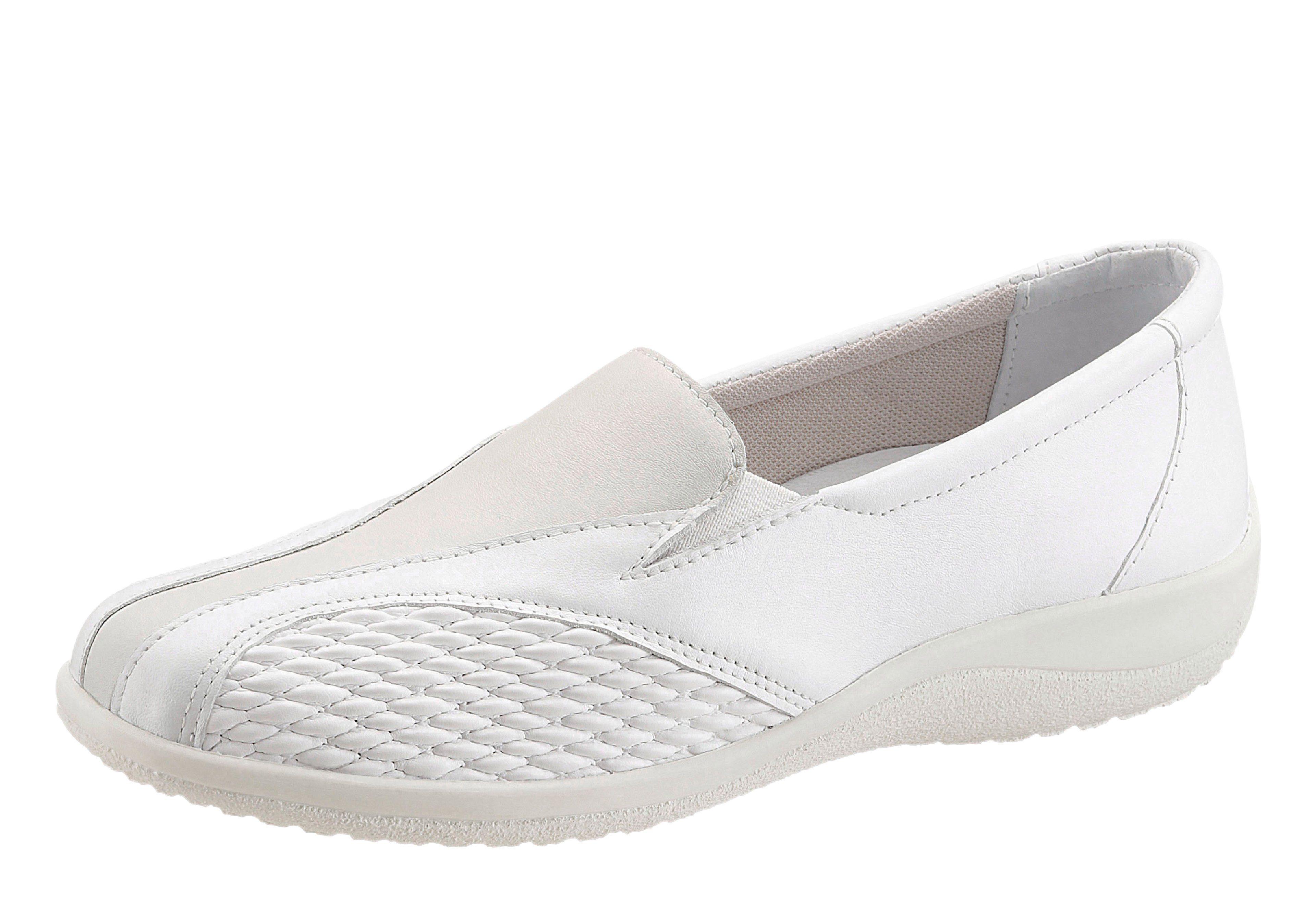 Regent Slipper mit elastischen Einsätzen an der Seite online kaufen  weiß
