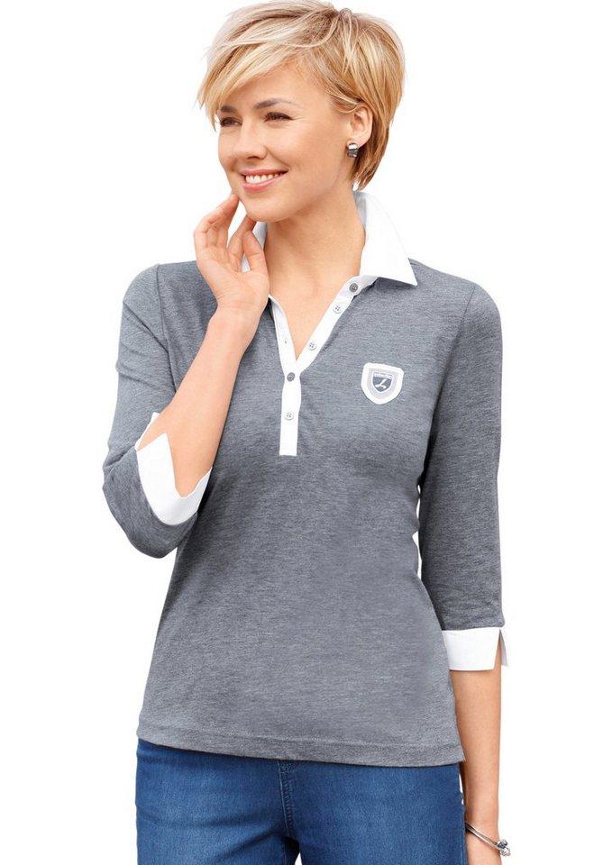Collection L. Shirt in softweicher PURE WEAR-Qualität in grau-weiß