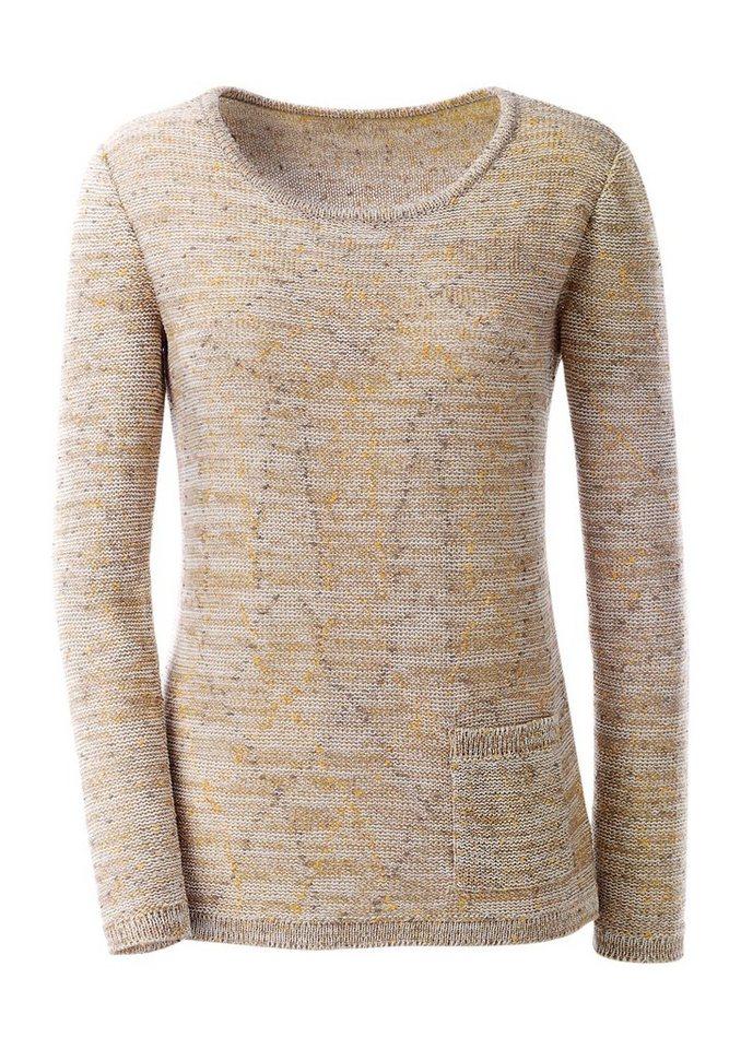 Ambria Pullover aus wohlfühlweichem Noppengarn in taupe-gemustert