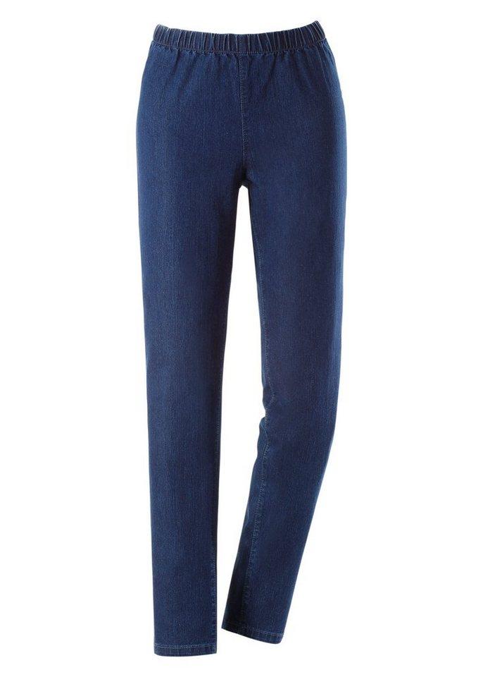 Ambria Jeans mit Rundum-Dehnbund in blue-stone-washed