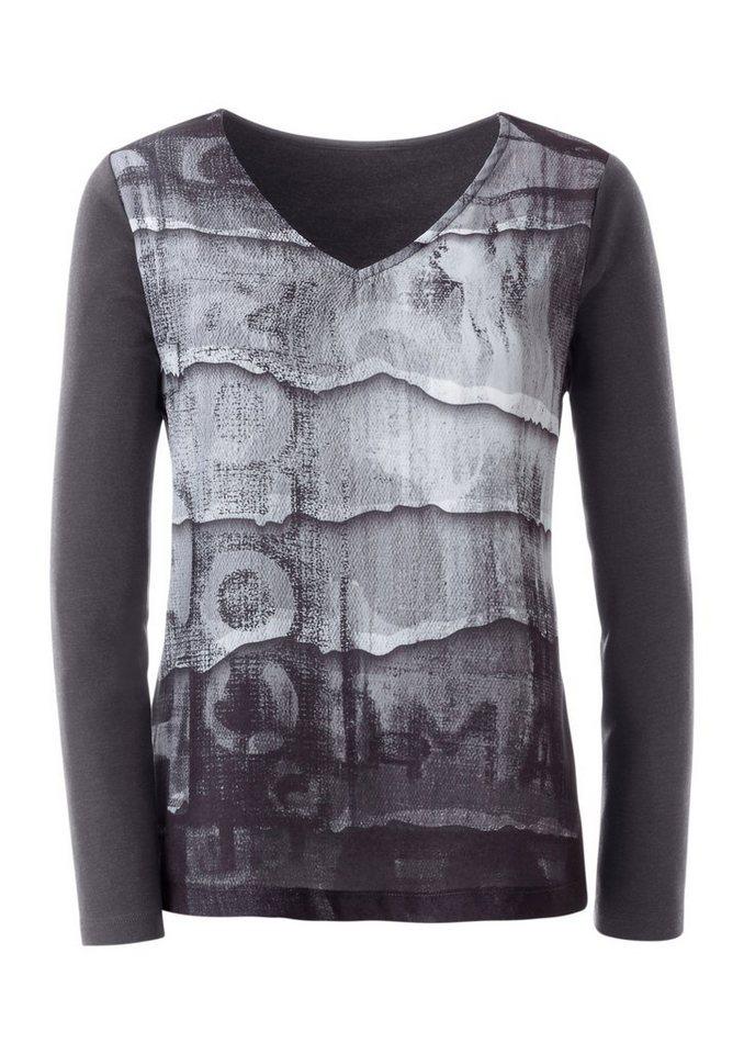 Ambria Shirt mit bedrucktem Vorderteil in schwarz-gemustert
