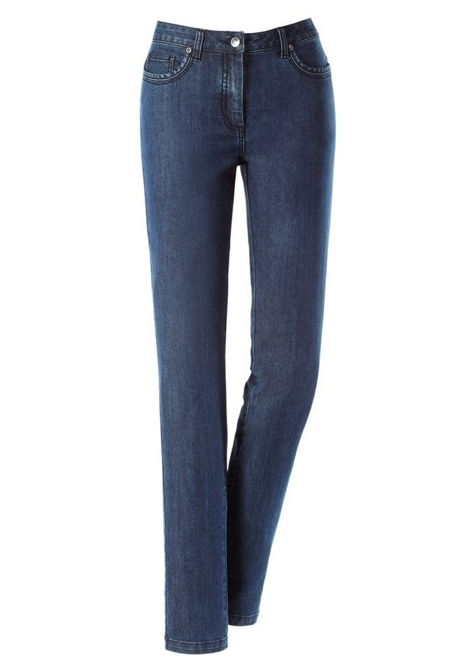 Ambria Jeans in schmaler Form in blue-stone-washed