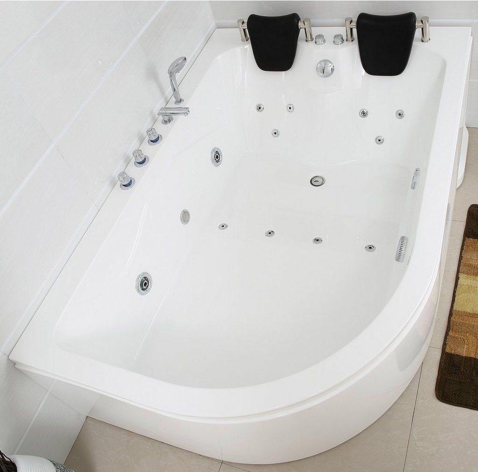 Komplett-Set: Whirlpool »Ancona XL links«, 180 x 120 cm