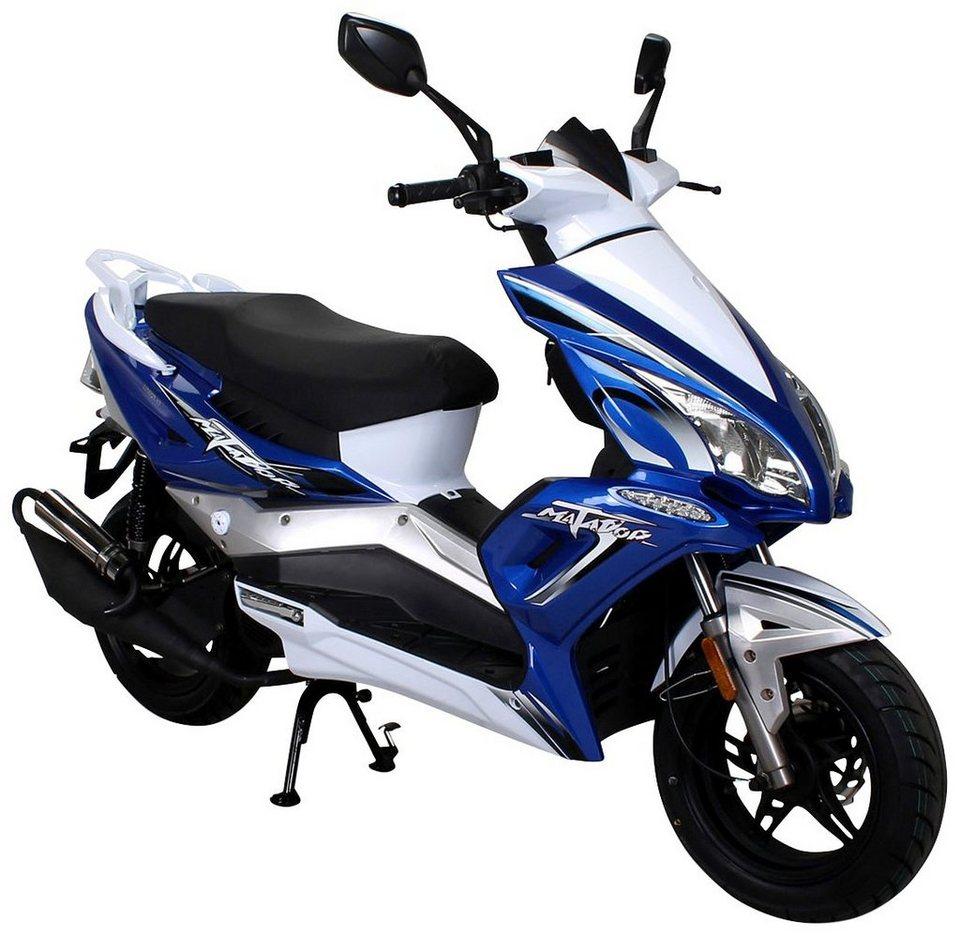 Mofa »Matador«, 50 ccm, 25 km/h, entdrosselbar in blau