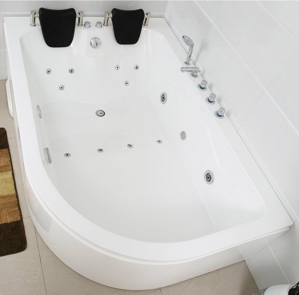 Komplett-Set: Whirlpool »Ancona XL rechts«, 180 x 120 cm