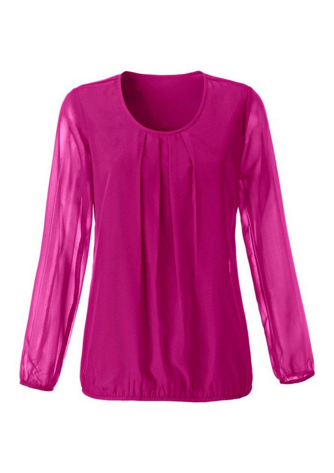 Bluse in Georgette-Qualität in pink
