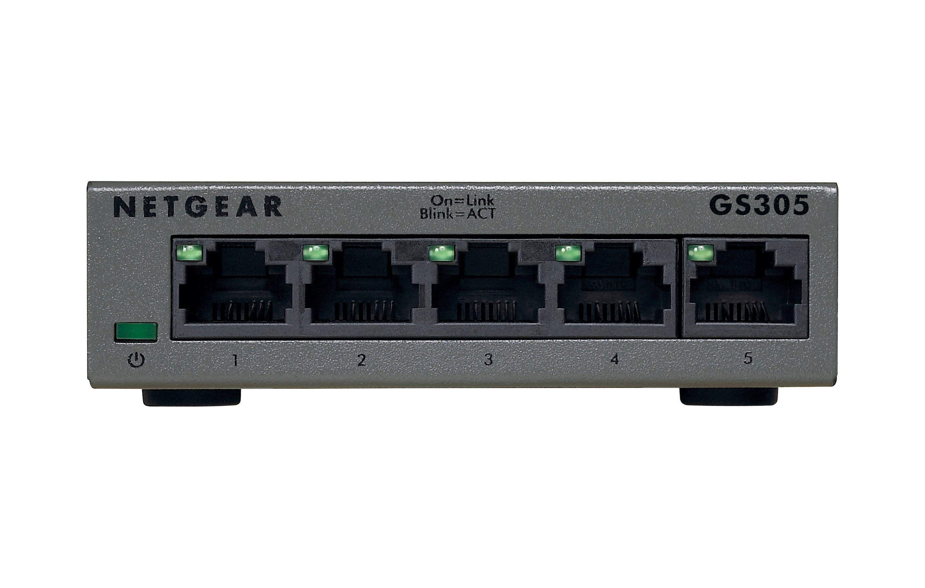Netgear 5-Port GB Switch lüfterlos »GS305«
