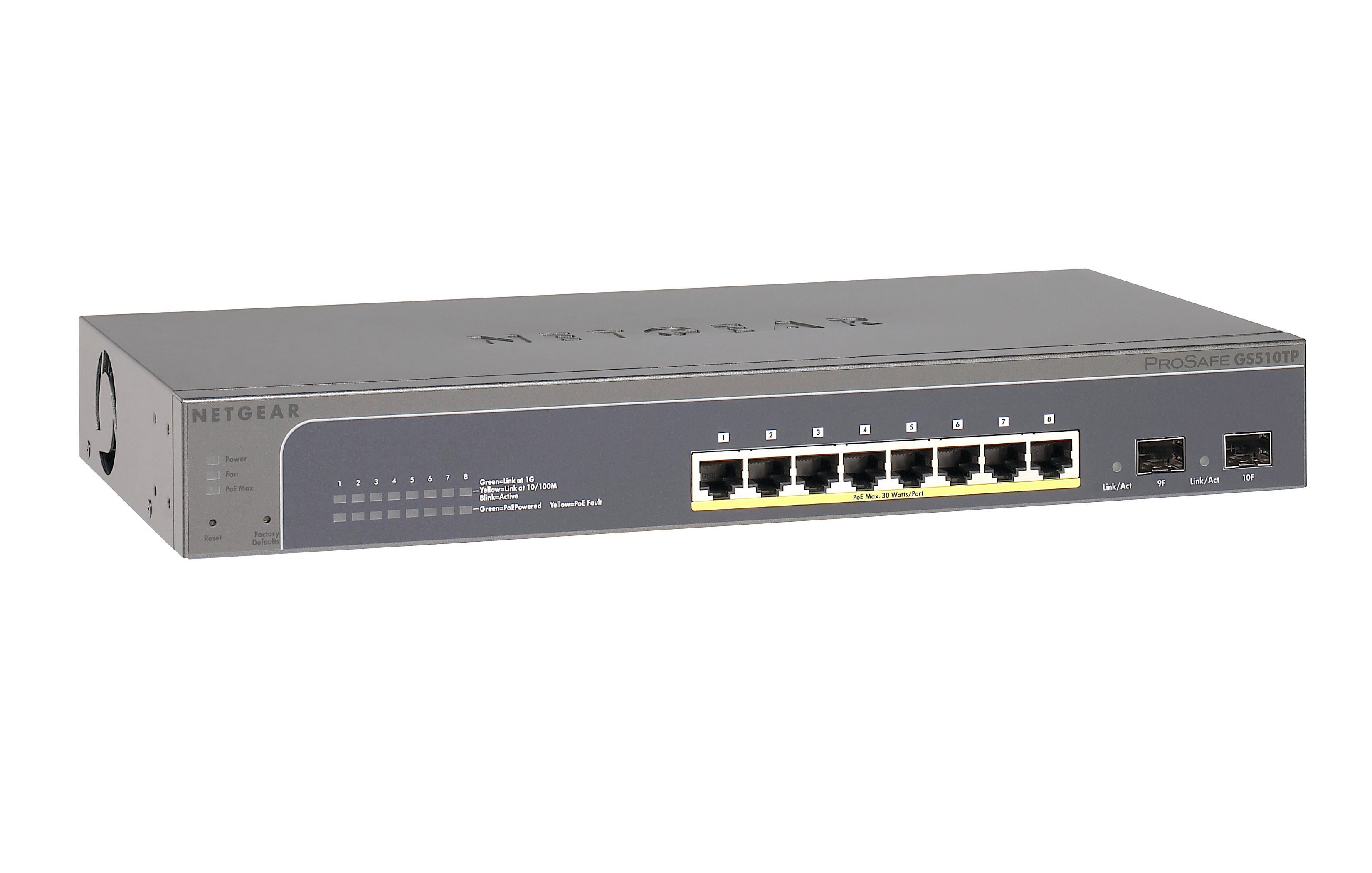 Netgear Switch »10-Port GB SmartSw 2SFPundPoE+«
