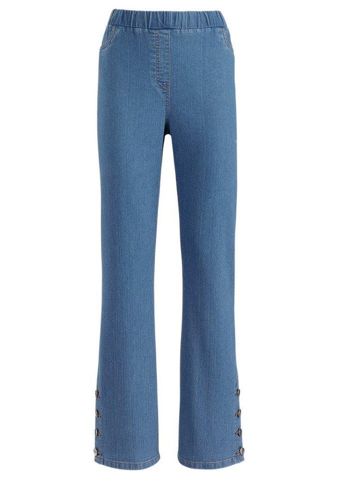 Classic Basics Jeans mit leichtem Schlag in blue-bleached