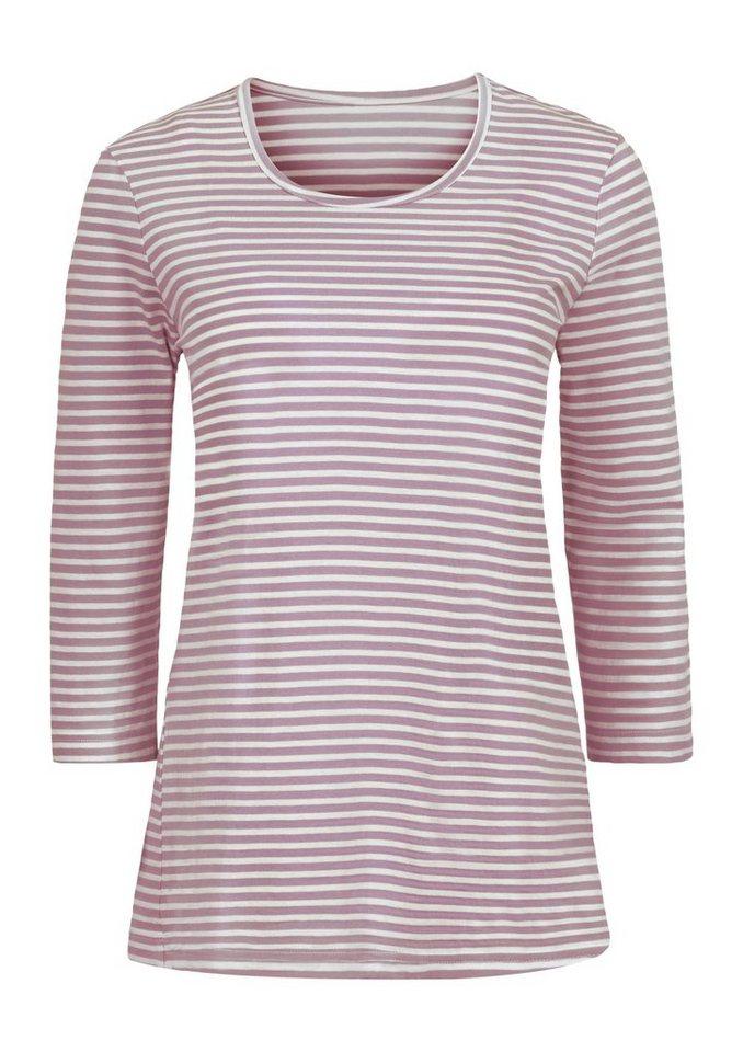 Classic Basics Shirt mit Ringel-Muster in rosé-geringelt