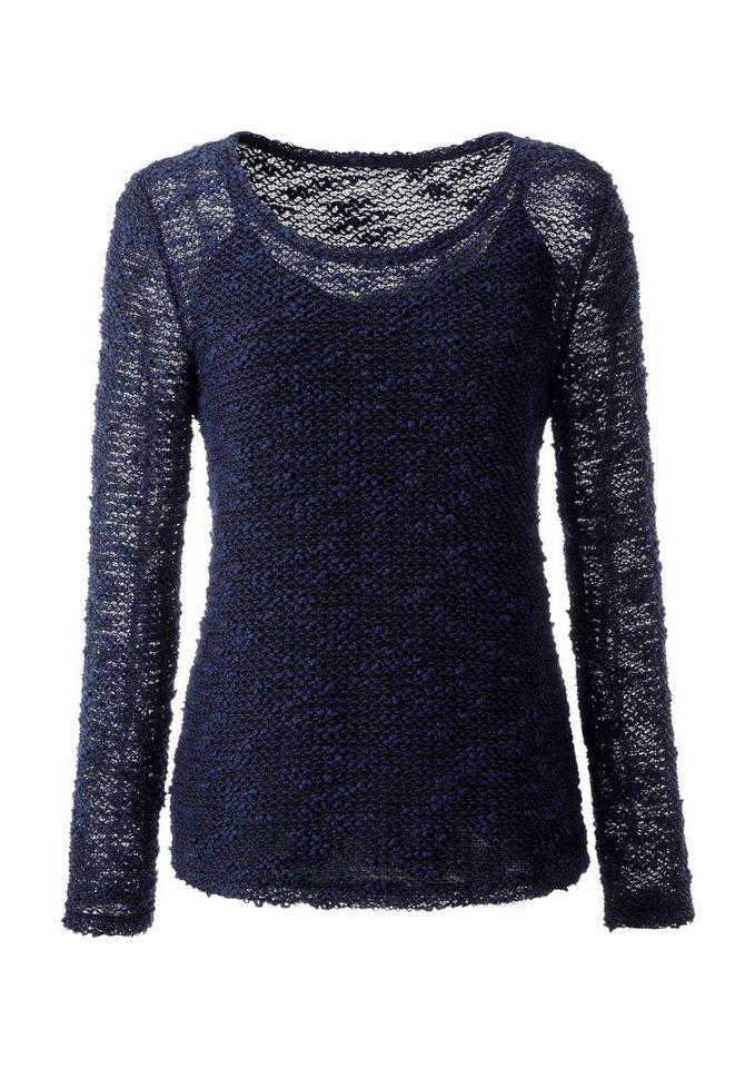 Ambria Shirt mit Rundhals-Ausschnitt in blau