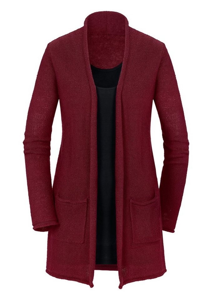 Ambria Strickjacke in offener Form in rot