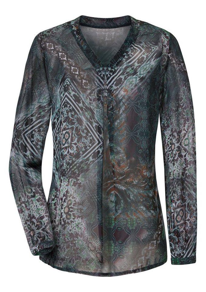 Ambria Bluse mit prachtvollen Druck in mint-gemustert