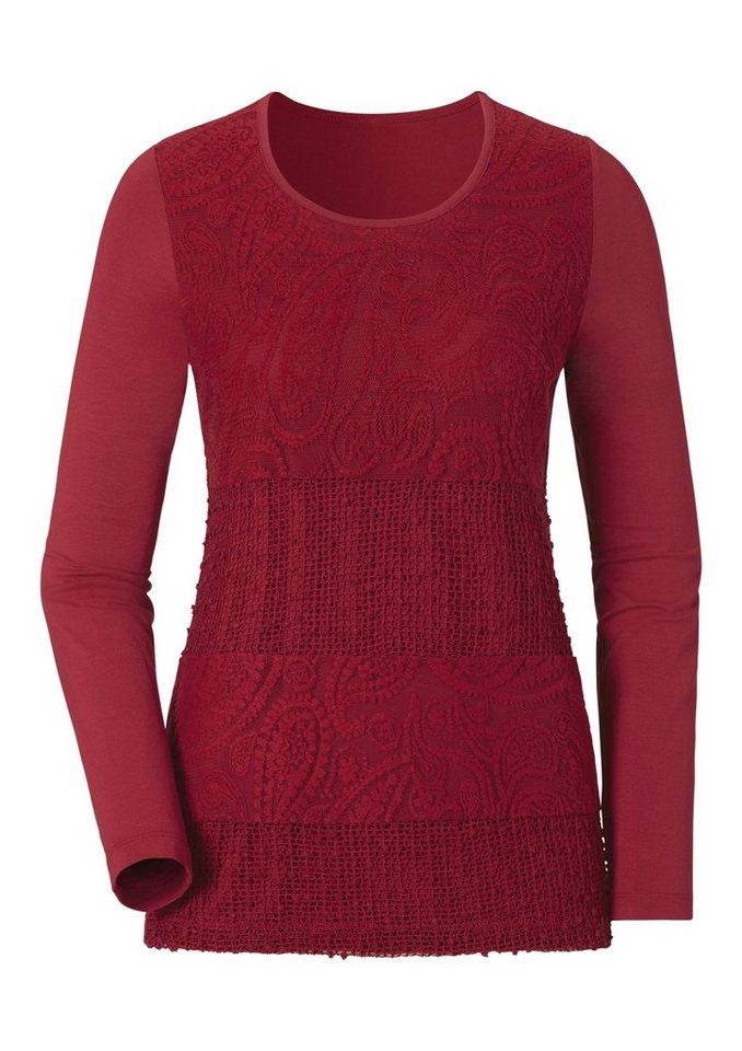 Ambria Shirt mit Rundhals-Ausschnitt in rot