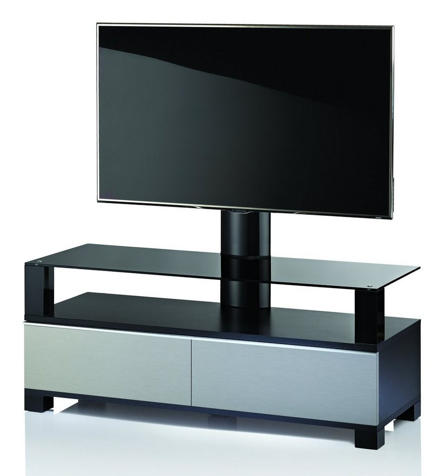"VCM Premium TV-Möbel mit Halterung ""Ravano Edelstahl-Optik"" / Fernse in Edelstahl-Optik"