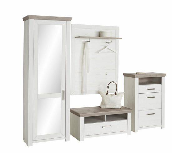 set one by Musterring Garderoben-Set »york«, (Set, 4-St), im Landhaus Stil