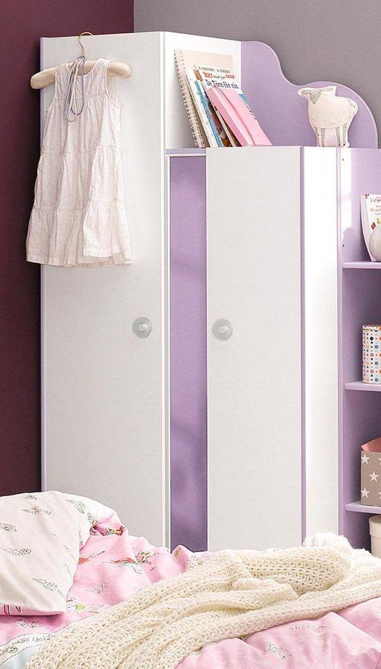 Parisot Kleiderschrank »Mila« in weiß-lila