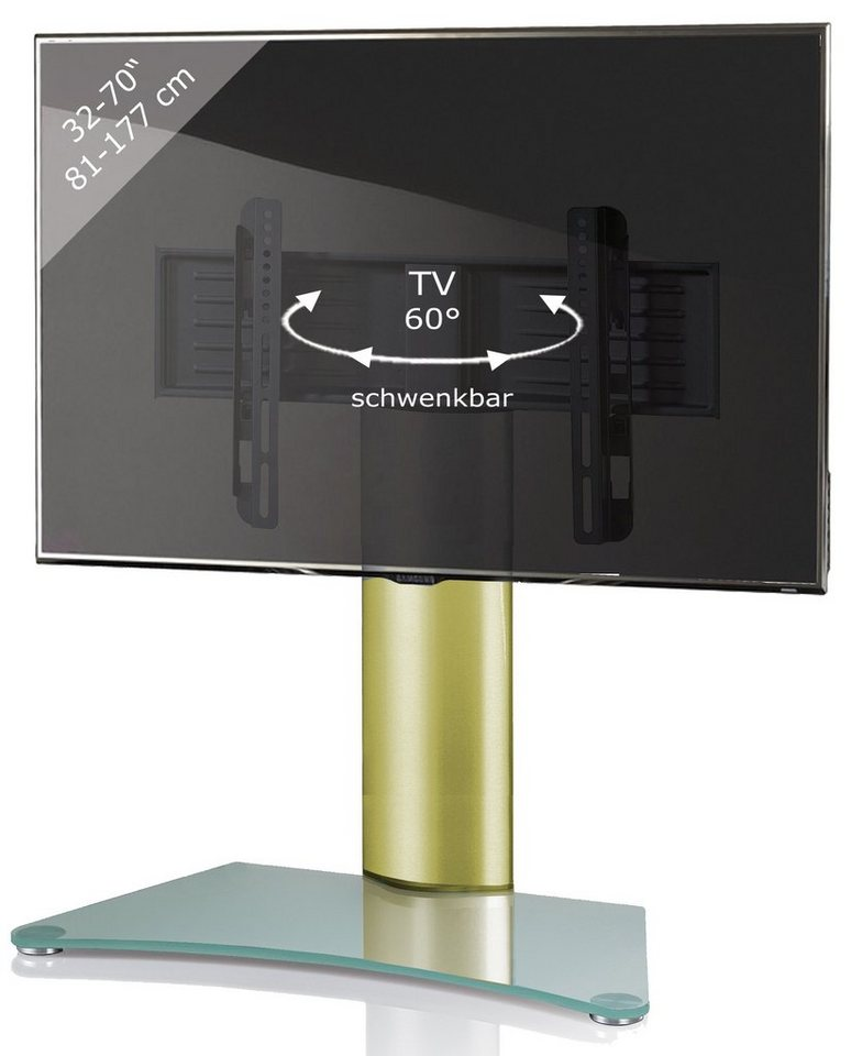 "VCM Tisch - Standfuß ""Windoxa Maxi"" in Klarglas"