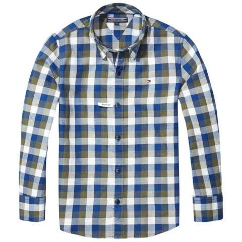 Tommy Hilfiger Hemd »GINGHAM TWILL CHECK SHIRT« in Grape Leaf