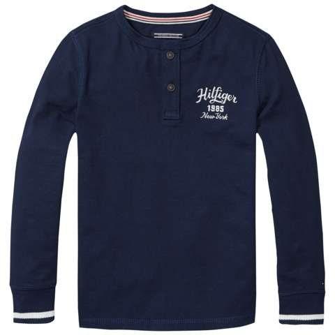 Tommy Hilfiger T-Shirt »HENLEY TEE L/S« in Navy Blazer