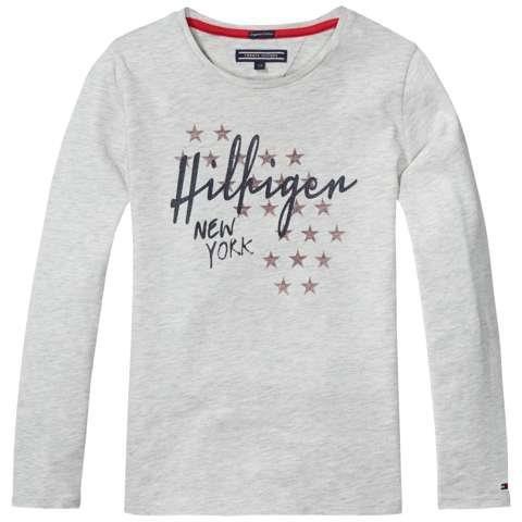 Tommy Hilfiger T-Shirt (langarm) »ICONICS CN KNIT L/S« in Warm Light Grey