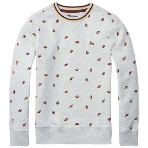 Tommy Hilfiger Sweatshirt »ALL-OVER PRINTED CN HWK L/S« in Light Grey Heather