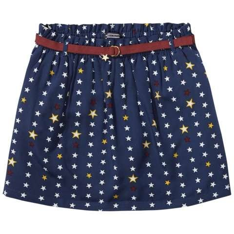 Tommy Hilfiger Rock »STAR RAYON SKIRT« in Navy Blazer