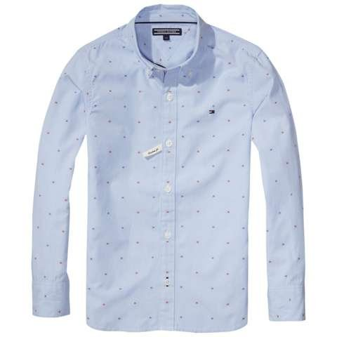 Tommy Hilfiger Hemd »H DOBBY SHIRT L/S« in Shirt Blue