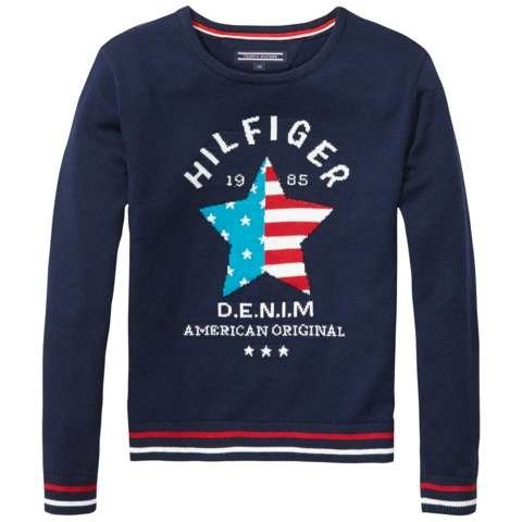 Tommy Hilfiger Pullover »ICONIC CN SWEATER L/S« in Navy Blazer