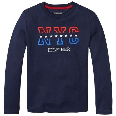 Tommy Hilfiger T-Shirt »ICONIC CN TEE L/S« in Navy Blazer