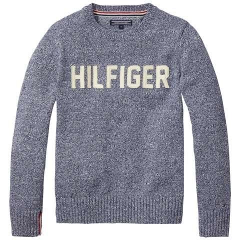 Tommy Hilfiger Pullover »HILFIGER CN SWEATER L/S« in Navy Blazer