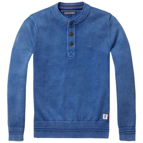 Tommy Hilfiger Pullover »HENLEY SWEATER L/S« in Nocturnal