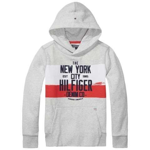Tommy Hilfiger Sweatshirt »HILFIGER HD HWK L/S« in Light Grey Heather