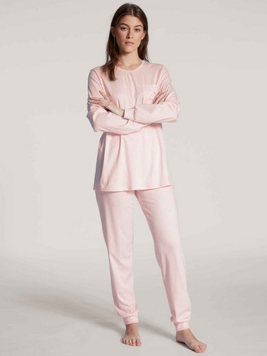 CALIDA Pyjama »Bündchen-Pyjama« (2 tlg) Made in Europe