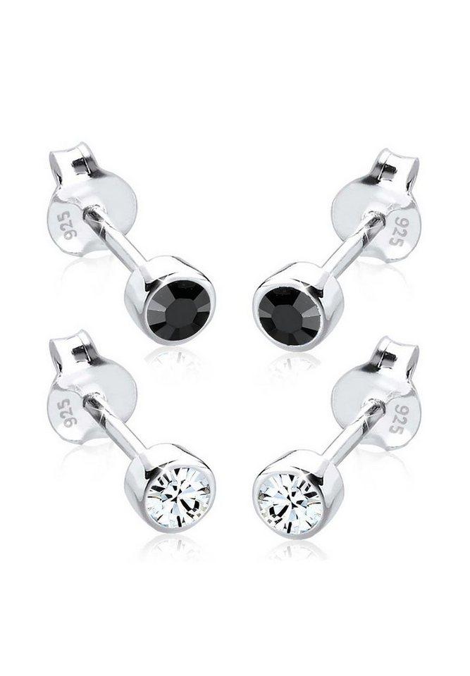 Elli Ohrringe »Basic Set Swarovski® Kristalle Filigran 925 Silber« in Bunt